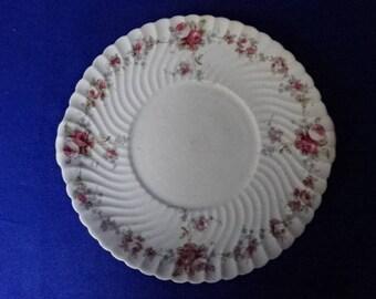 E Hughes & Co Fenton China Cake Plate/Fenton China/Floral/China Plate/Plate/Afternoon Tea/Vintage/1908-1912