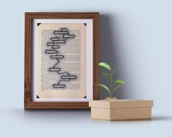 Book Art - Original - Poem - Vintage Book Page - Repurposed - Unique