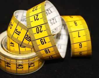 Yellow tape measure, 60 inch/150cm Measure , Jewelry Tools, 150cm measuring tape, both sides are centimeters