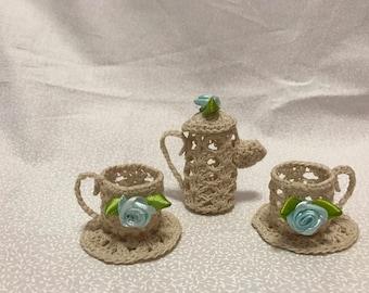 Crochet Tiny Tea Set