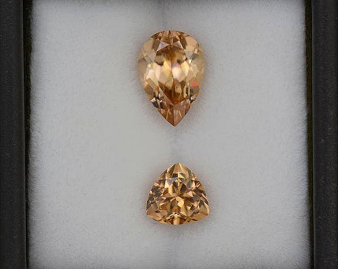 Fantastic Bright Peach Bellini Zircon Gemstone Set from Tanzania 4.87 tcw.