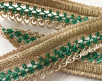 great trim to twisted gold laces green 35 mm
