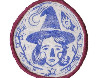 Witch patch with red edging