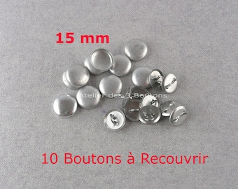 """10 Cover Buttons 5/8"""" (Size 24)"""