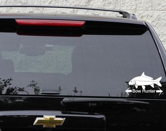 Bow fishing decal in 11 colors