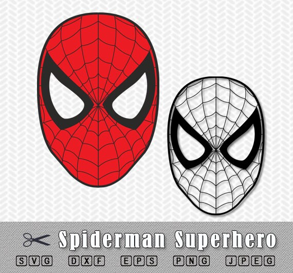 Spiderman Mask Superhero SVG DXF Png Logo Vector File