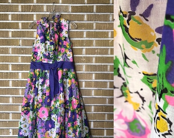 size 12- 60s Miss Elliette floral dress