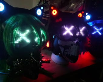 Professional Wrench Mask with LED Matrix - different designs , colours and custom made possible ! - Chemion -