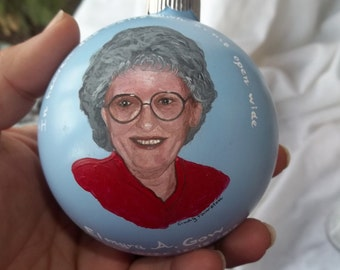 memorial ornament -in memory of your lost loved one custom portrait ornament