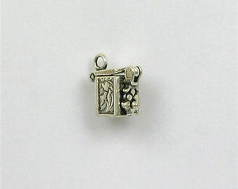 Sterling Silver 3-D Movable Prayer Box Charm