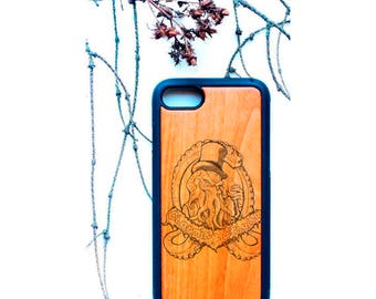 iPhone wood case - cthulhu - monster - sea - iPhone 8 case - personal design - iPhone case - iPhone X case - iPhone 6 case - iPhone 7