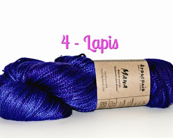 Mana by Araucania Yarns, Brightly Colored Mulberry Silk, Handpained, Perfect for making high end luxury fashion accessories, clothing