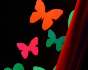 Glow-in-the-Dark Butterfly Body Stickers - Glitter Butterflies - Glow Party - EDC - Neon Stickers - Festival Fashion - Stripper Clothes