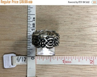 10%OFF3DAYSALE Vintage 925 Sterling Silver 9.6g Knotwork Ring Size 6.5 Used
