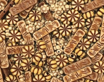 Bohemian beads-boho beads-brown beads-mixed lots beads-beads
