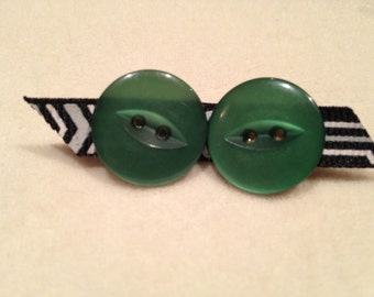 Cute Hand-Made Button Earrings - Two-Holed Fish-Eye