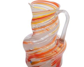 Vintage Art Glass Drinks Murano Glass Pitcher