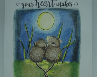 Mice and moon card   Etsy Card House Mouse Designs on house mouse design time, house cleaning services business cards, house mouse christmas,