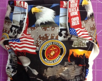 United States Marines Inspired Cloth Diapers/Diaper Cover