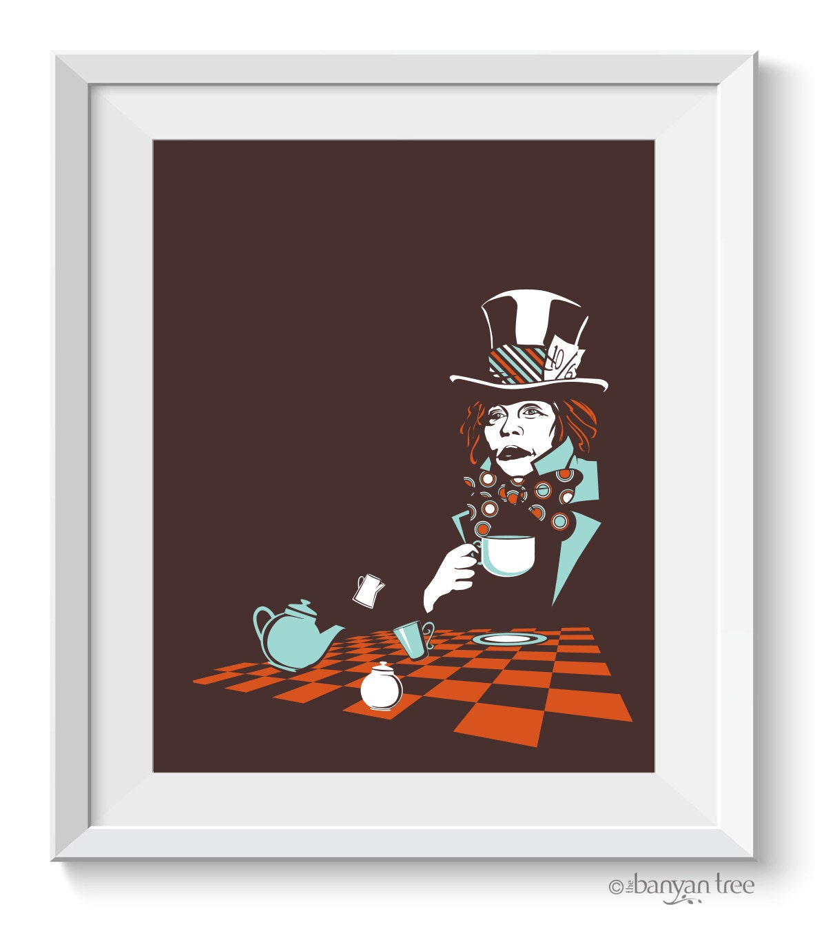 Mad Hatter Kunstdruck Alice im Wunderland Kunstdruck