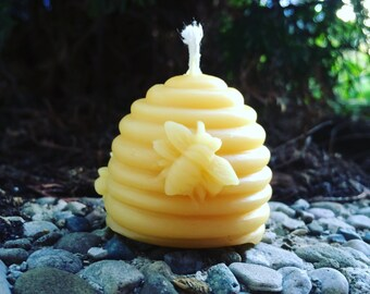 BEESWAX Candles Set of 6- Non-Toxic Candles- Air Purifying- Hypoallergenic -100% Natrual Gift - Natural Party Favor - Holiday Christmas Gift