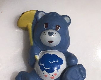 Grumpy Bear Care Bear 80s figurine