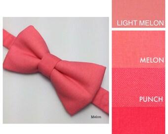 Melon bow tie. Coral Bowtie. Watermelon  bowtie.