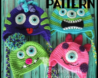 PATTERN:  Crochet Monster Hat