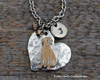 Yellow Lab Necklace, Yellow Labrador, Yellow Lab Heart Dog, Yellow Lab Sympathy Gift, Yellow Lab Gift, Dog Lover Gift
