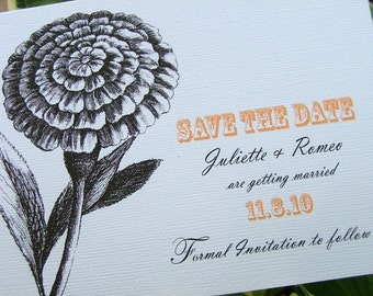 Flower Save the Date Cards Set of 100