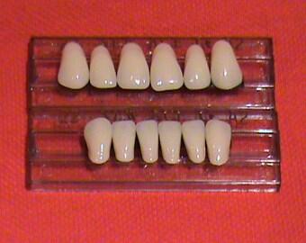 One set of anterior acrylic resin denture/false teeth Shade A3, size 22.