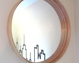 22''x3.5'' Maple Mirror