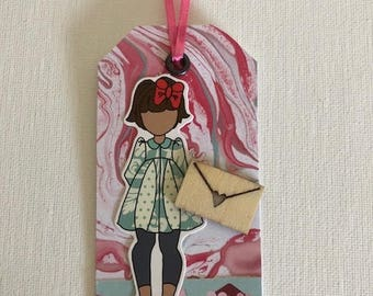 Letter Girl Gift Tag