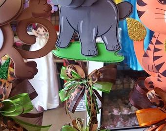 Safari centerpiece, Baby shower centerpiece, animal themed party