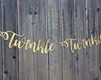 Twinkle Twinkle Glitter Banner