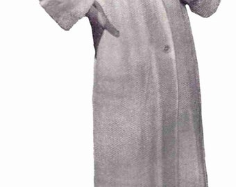 1920s Vintage KNIT Coat Pattern Download PDF File Roaring Twenties Downton Abbey Fashion