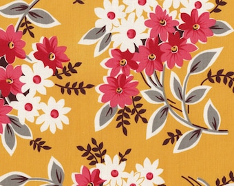 OOP HTF 22 inches Flea Market Fancy Legacy Fabric Collection Daisy Flower Bouquet Red Yellow