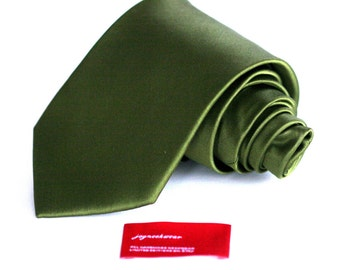 Silk Tie (3 or 2 inch) Olive Green