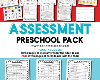 Preschool Assessment Forms Printable Assessment Sheets Pre-k assessment forms preschool students bundle - instant download
