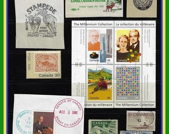 Canada - Bits & Pieces - Stamps , Cinderellas , Postal stationary ,  Covers and Cards , Old Checks , Ephemera