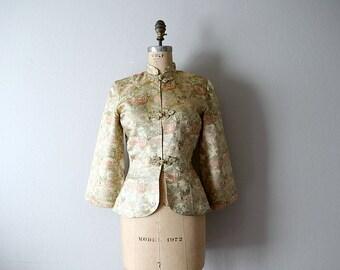 50% SALE . 1950s jacket . vintage Alfred Shaheen brocade jacket