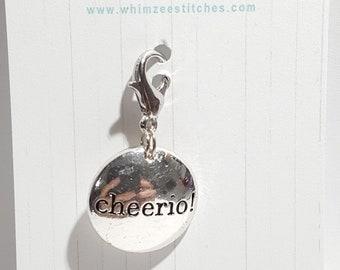 Cheerio! Progress Keeper, Stitch Marker - 16mm silver lobster clasp finding - PK0055