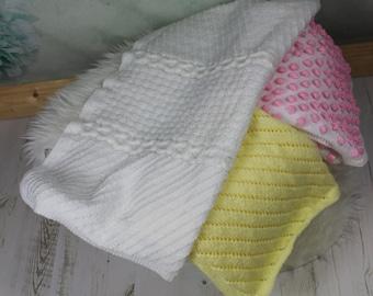 KNITTING PATTERN For 3 Baby Blankets, Afghans PDF 180 Digital Download