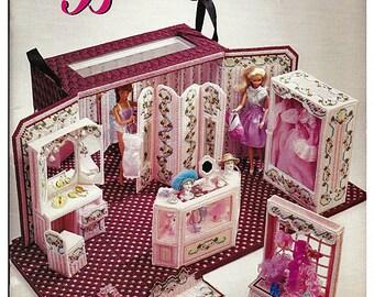 Fashion Doll LA Boutique Plastic Canvas Pattern Annies Attic 87D71