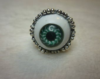 Light blue eye, Big Brother' silver ring