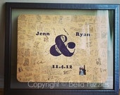 180 pc Wedding Guest Book Puzzle, guestbook alternative, wedding AMPERSAND puzzle guest book, Bella Puzzles™ rustic bohemian wedding
