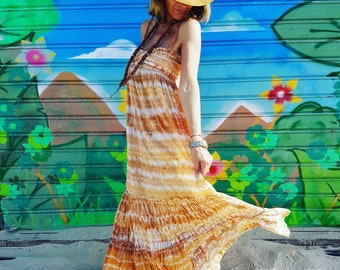 Maxi dress long dress Bohemian dress gypsy style hippie chic cotton voile dress summer hippie style dress