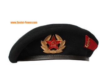 MARINES Russian / Soviet Military black Beret hat