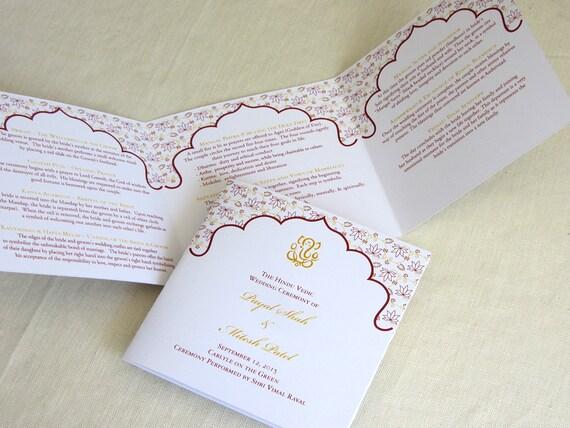 tri fold wedding program vatoz atozdevelopment co