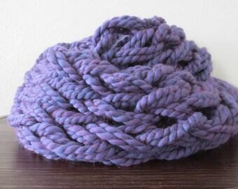 Purple Arm Knit Infinity Scarf